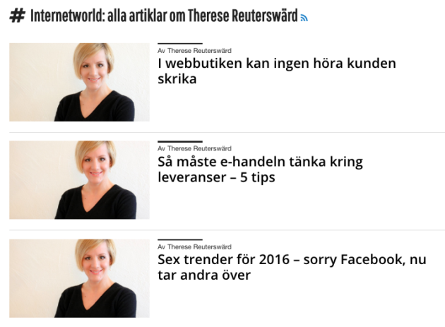 Internetworld krönikor om ehandel