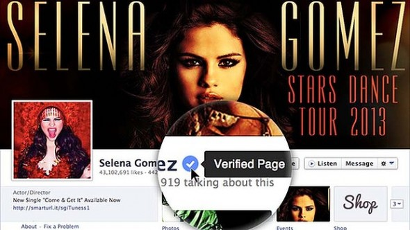 Facebook verified page