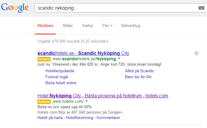 Gula rutan borta i Google Adwords!