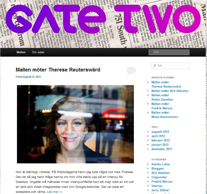 Intervjuad för Gate Two